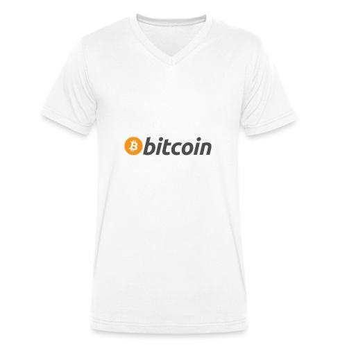 Kryptowährung - Bitcoin - Männer Bio-T-Shirt mit V-Ausschnitt von Stanley & Stella