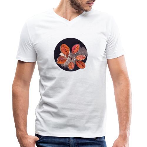 Herbstblätter Kreis - Männer Bio-T-Shirt mit V-Ausschnitt von Stanley & Stella