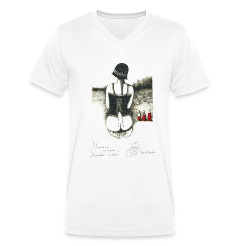 Nalewka Elżbieta Radzikowska - Ekologiczna koszulka męska z dekoltem w serek Stanley & Stella