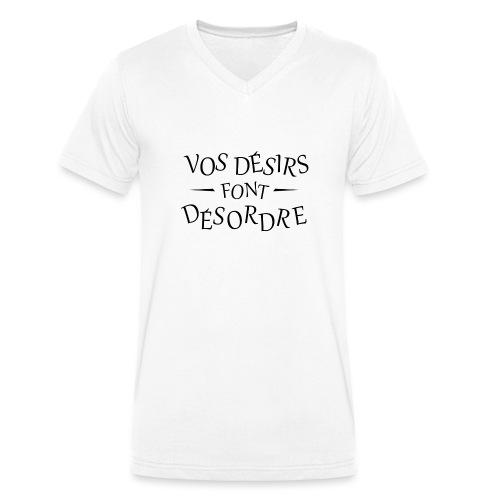 Désirs désordre - T-shirt bio col V Stanley & Stella Homme