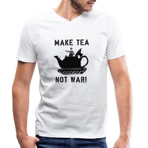 Make Tea not War! - Men's Organic V-Neck T-Shirt by Stanley & Stella