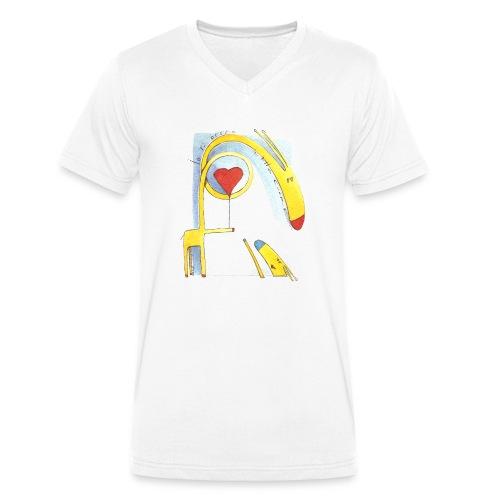 Giraffa innamorata - T-shirt ecologica da uomo con scollo a V di Stanley & Stella