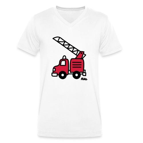Feuerwehrauto (c) - Männer Bio-T-Shirt mit V-Ausschnitt von Stanley & Stella