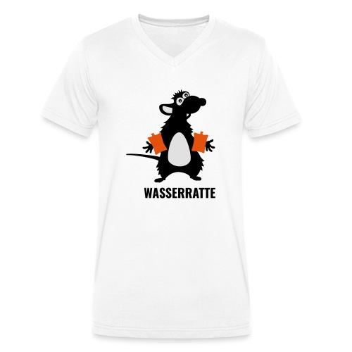 Wasserratte mit Schwimmflügeln - Männer Bio-T-Shirt mit V-Ausschnitt von Stanley & Stella