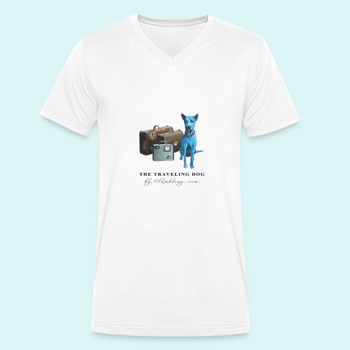 Laly Blue Big - Men's Organic V-Neck T-Shirt by Stanley & Stella