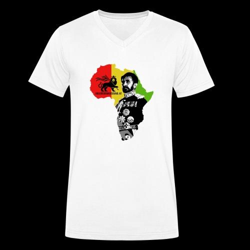 Africa Conquerin Lion H.I.M. - Männer Bio-T-Shirt mit V-Ausschnitt von Stanley & Stella