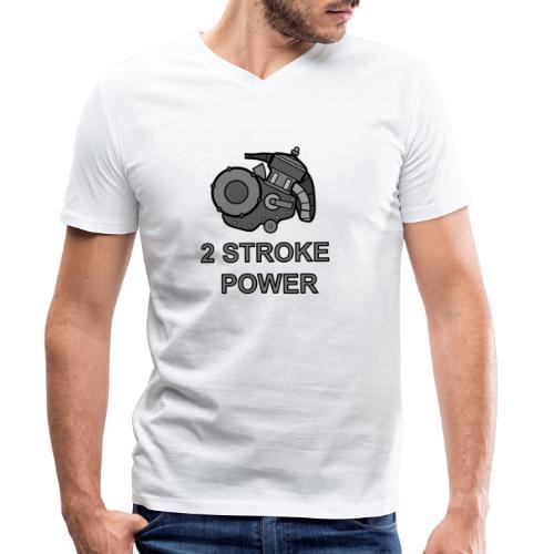 2 stroke power - T-shirt ecologica da uomo con scollo a V di Stanley & Stella