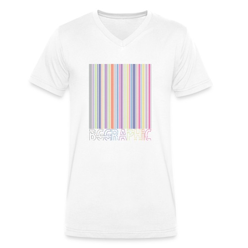 Bar code - Ekologiczna koszulka męska z dekoltem w serek Stanley & Stella