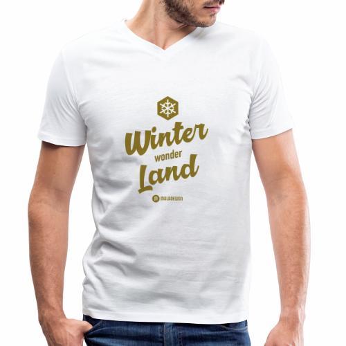 Winter Wonder Land - Stanley & Stellan miesten luomupikeepaita
