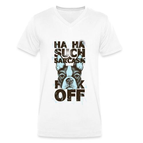 sarcasm png - Männer Bio-T-Shirt mit V-Ausschnitt von Stanley & Stella