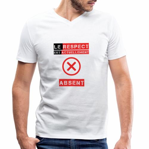 Le respect est actuellement absent - T-shirt bio col V Stanley & Stella Homme