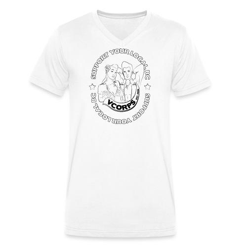 Support-LocalBC-White - Men's Organic V-Neck T-Shirt by Stanley & Stella