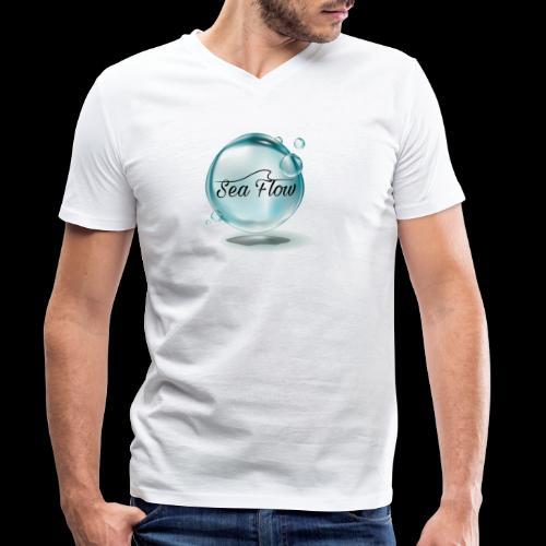 abbigliamento e tazze logo Sea Flow Bolla - T-shirt ecologica da uomo con scollo a V di Stanley & Stella