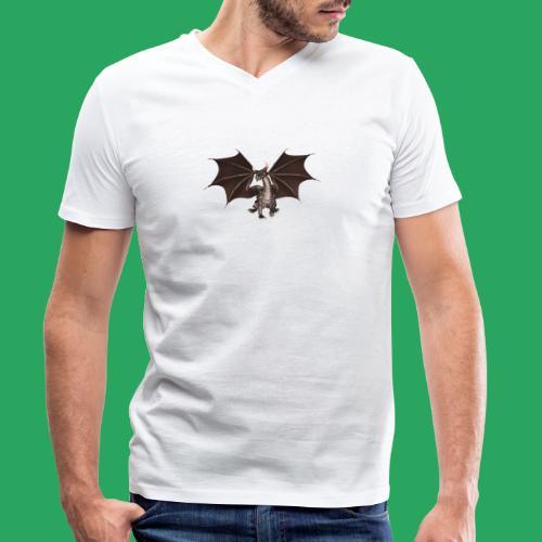 dragon logo color - T-shirt ecologica da uomo con scollo a V di Stanley & Stella