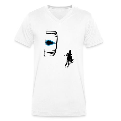 Kiter - Männer Bio-T-Shirt mit V-Ausschnitt von Stanley & Stella