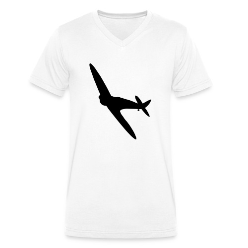 Spitfire Silhouette - Men's Organic V-Neck T-Shirt by Stanley & Stella