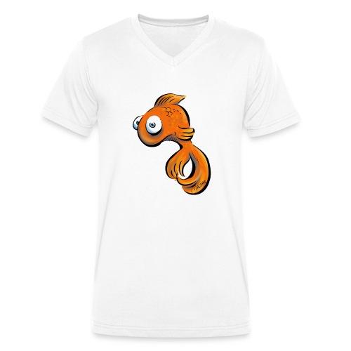 Frustfisch - Männer Bio-T-Shirt mit V-Ausschnitt von Stanley & Stella