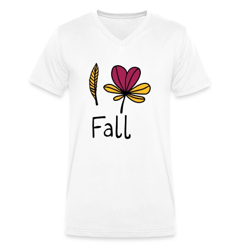 Fall in love - Männer Bio-T-Shirt mit V-Ausschnitt von Stanley & Stella