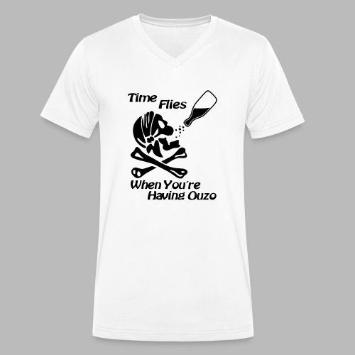 Time Flies Ouzs Shirt - Männer Bio-T-Shirt mit V-Ausschnitt von Stanley & Stella