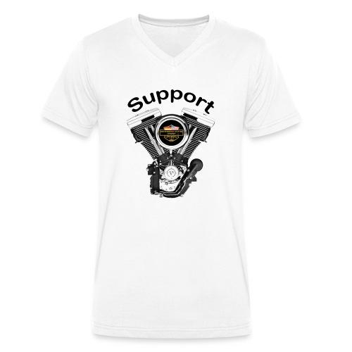 Support Indis bunt evolution engine - Männer Bio-T-Shirt mit V-Ausschnitt von Stanley & Stella