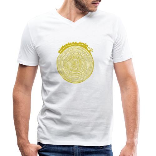 Kattoo Gelb - Männer Bio-T-Shirt mit V-Ausschnitt von Stanley & Stella