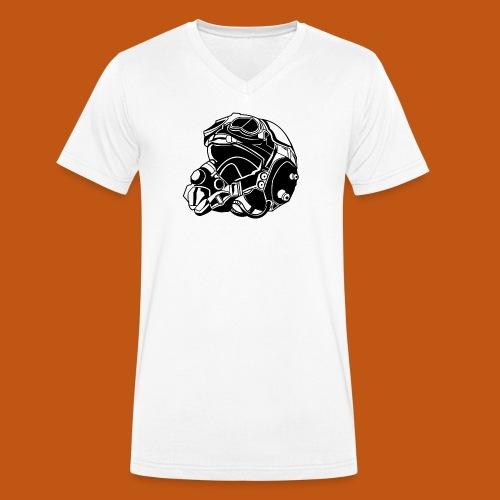 Pilotenhelm / Pilot Helmet 01_schwarz - Männer Bio-T-Shirt mit V-Ausschnitt von Stanley & Stella