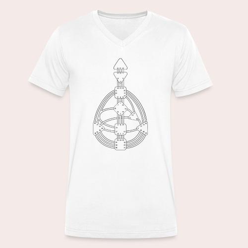 Körpergrafik - Männer Bio-T-Shirt mit V-Ausschnitt von Stanley & Stella