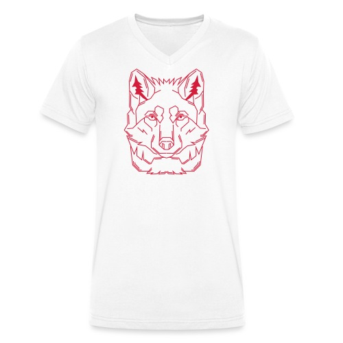 Red Wolf - Männer Bio-T-Shirt mit V-Ausschnitt von Stanley & Stella