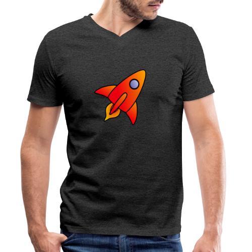 Red Rocket - Men's Organic V-Neck T-Shirt by Stanley & Stella