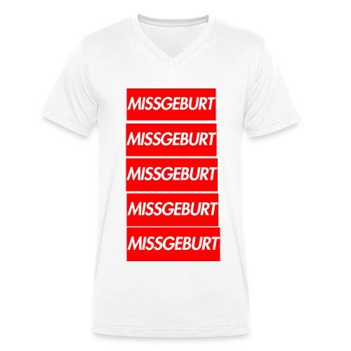 Missgeburt Shirt (Weiss) | Lucas - Männer Bio-T-Shirt mit V-Ausschnitt von Stanley & Stella