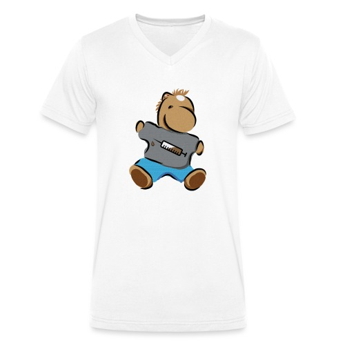 Breitmarra - Männer Bio-T-Shirt mit V-Ausschnitt von Stanley & Stella