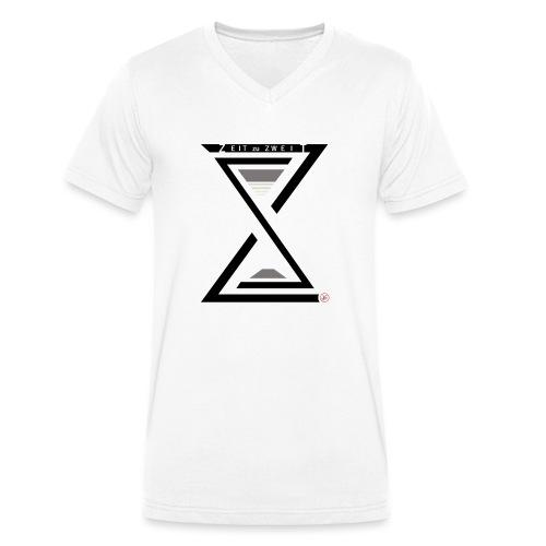 Zeit zu Zweit by iKAB - Männer Bio-T-Shirt mit V-Ausschnitt von Stanley & Stella