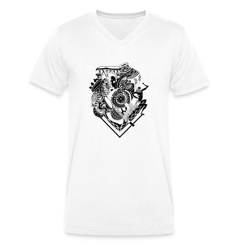 afrocentrique - Men's Organic V-Neck T-Shirt by Stanley & Stella