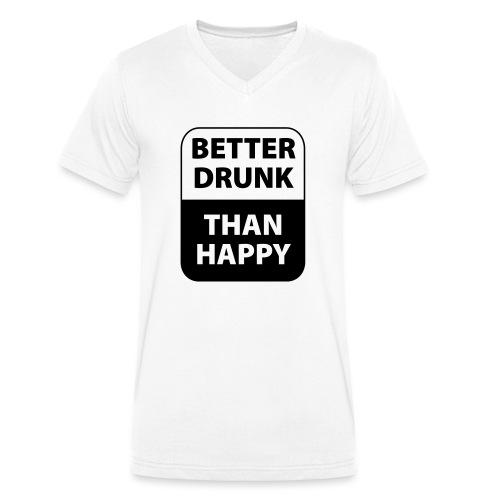 mieux ivre qu'heureux - T-shirt bio col V Stanley & Stella Homme