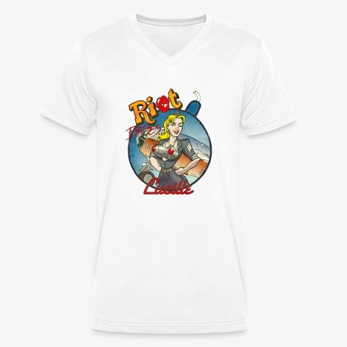 Riot Babes – Lucille - Männer Bio-T-Shirt mit V-Ausschnitt von Stanley & Stella