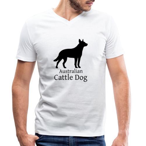 Australian Cattle Dog - Männer Bio-T-Shirt mit V-Ausschnitt von Stanley & Stella