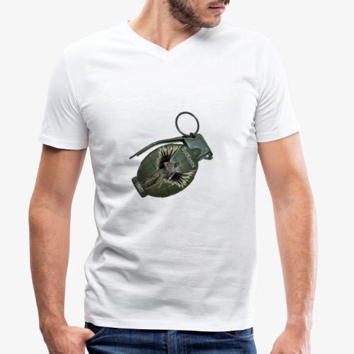 OutKasts Grenade Side - Men's Organic V-Neck T-Shirt by Stanley & Stella