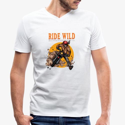 Ride Wild - T-shirt bio col V Stanley & Stella Homme