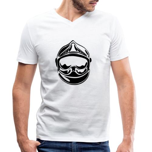 casque_face_2 - T-shirt bio col V Stanley & Stella Homme