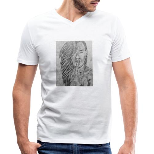 Jyrks_kunstdesign - Økologisk Stanley & Stella T-shirt med V-udskæring til herrer