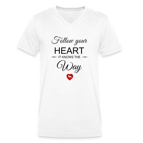 follow your heartbesser - Männer Bio-T-Shirt mit V-Ausschnitt von Stanley & Stella