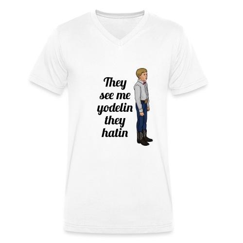 Tenn1sTv Yodelin Kid - Men's Organic V-Neck T-Shirt by Stanley & Stella