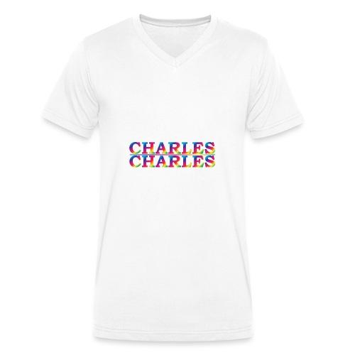 CHARLES rainbow - Men's Organic V-Neck T-Shirt by Stanley & Stella