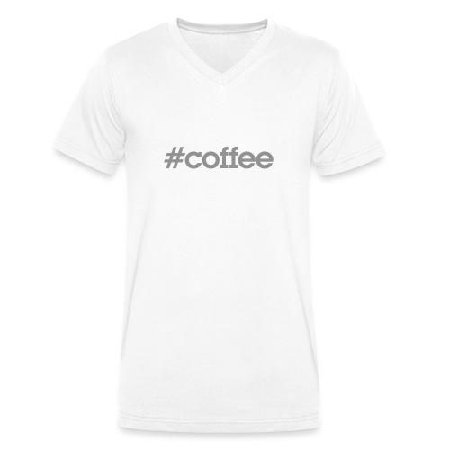 hashtag coffee gris - T-shirt bio col V Stanley & Stella Homme