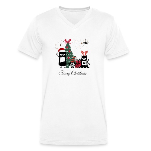 Noël effrayant - Scary Christmas - T-shirt bio col V Stanley & Stella Homme