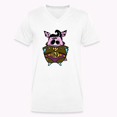 super oink col - T-shirt ecologica da uomo con scollo a V di Stanley & Stella