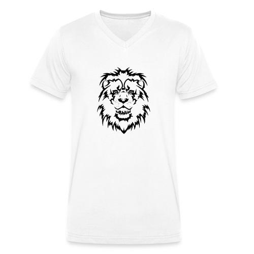Karavaan Lion Black - Mannen bio T-shirt met V-hals van Stanley & Stella