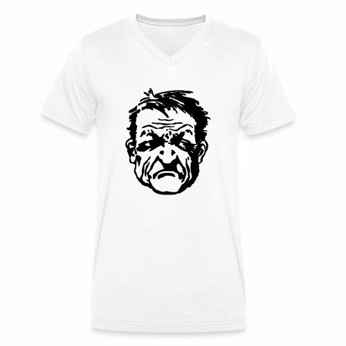 Wütender Blick - Männer Bio-T-Shirt mit V-Ausschnitt von Stanley & Stella