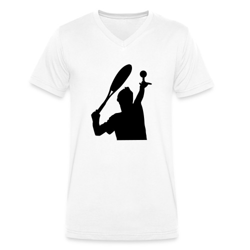 tennis silouhette 5 - T-shirt bio col V Stanley & Stella Homme