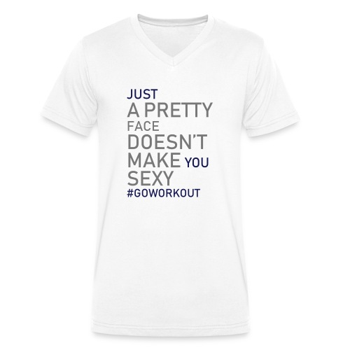 Just a pretty face... - Men's Organic V-Neck T-Shirt by Stanley & Stella